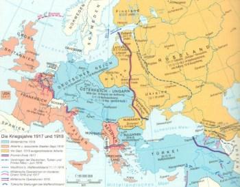战争年代1917年至1918年