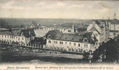 Kaserne des Feldartillerie-Regiments (1. Nassauisches, Teil der 21. Division) Nr. 27