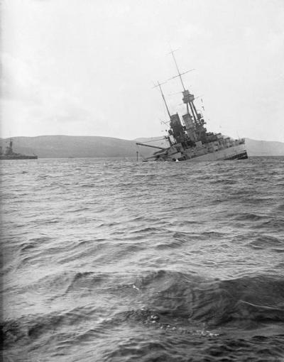 Опускающиеся СМС Баварию в Скапа Flow в 1919