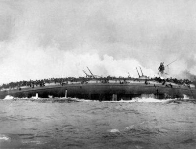 The Sinking Blücher on the Doggerbank 1915