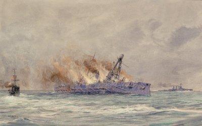 SMS Blücher in battle on the Doggerbank
