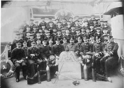 I marinai di SMS Hertha durante il loro incarico in Cina