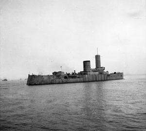 SMS Hessen as target ship