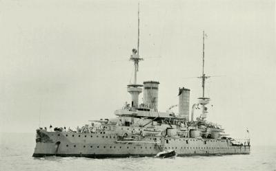 Bateau de ligne le SMS Kaiser Friedrich III.