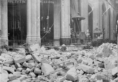 Impatto nella chiesa di San Gervais a Parigi il 29 marzo 1918