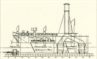 Propulsione turboelettrica della nave sottomarina di sollevamento SMS Vulkan