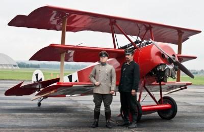 La replica di un Fokker Dr. I con cui Richthofen ha volato l'ultima volta
