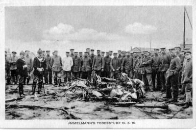 Il luogo dell'incidente di Immelmann il 19 giugno 1916