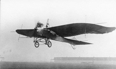 Aircraft Rumpler-Taube after takeoff