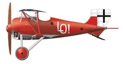 Siemens Schuckert D.III by Ernst Udet of the fighter squadron 4