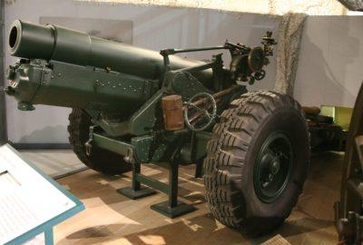 Un obusier britannique de 6 pouces 26 cwt au Royal Artillery Museum de Londres