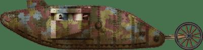 Mark I serbatoio n. 511 nell'azienda D della Heavy Section Machine Gun Corps (HSMGC)