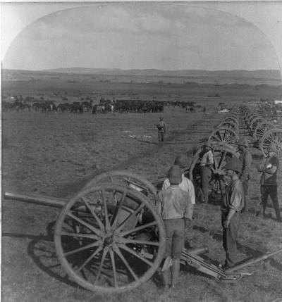 Ordonnance BL 15 Pounders vers 1900 en Afrique du Sud