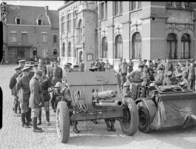Ordnance QF 18 livres en avril 1940 dans Orchies