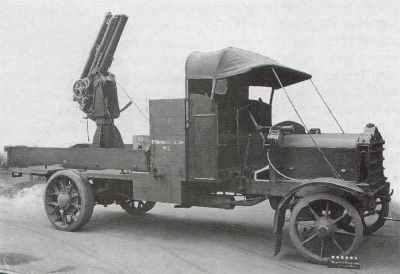 QF 13 Пфюндер 6 квт Министерство иностранных дел орудие монтирует 3 грузовых автомобиля на Мк Даймлера