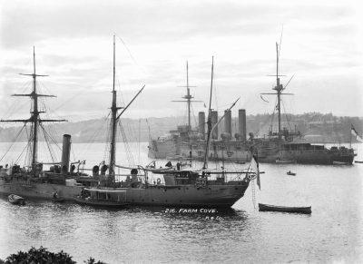 HMS Clio et HMS Euryalus à Sydney