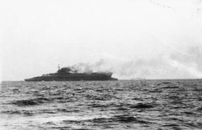 HMS Courageous durante l'affondamento