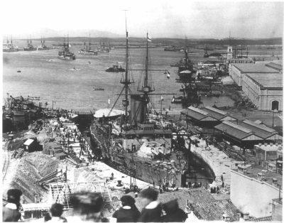 ГМС Король Эдвард VII в Гибралтаре