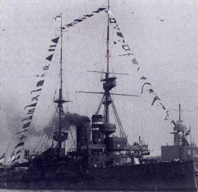 ГМС Принц оф Уэльс в 1912 в Портсмоут