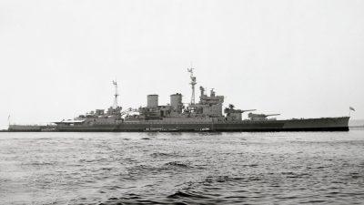 HMS Renown nell'agosto 1945
