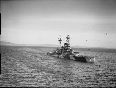 HMS Royal Sovereign dans Scapa Flow