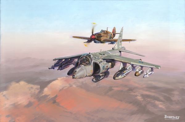 Harrier GR9 and Hurricane - Military Times - Mark Bromley
