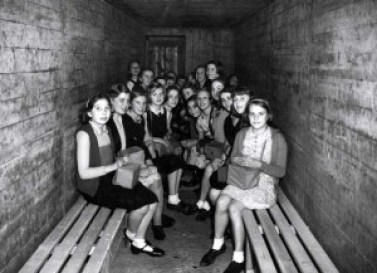 Image result for underground air raid shelters ww2