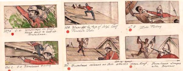 Original Zulu Storyboard - Courtesy of the Zulu Film Museum