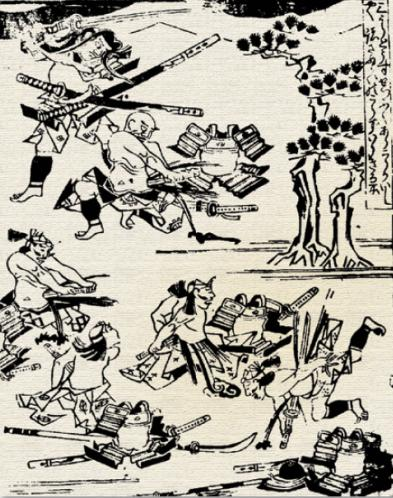 The suicide of the Hojo leaders at the siege of Odawara in 1590