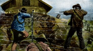 Guerrilla attack on a blockhouse