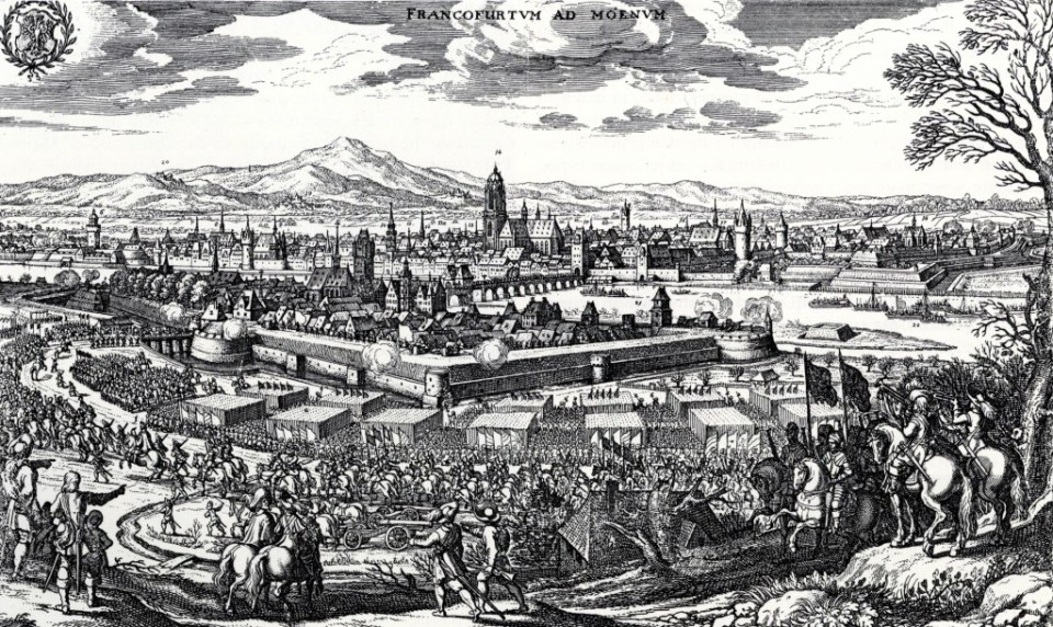 The army of Gustavus Adolphus enters Frankfurt during the Thirty Years War. The conduct of military operations was increasingly scientific in character. It was also increasingly intelligence-driven. In both respects the young soldier René Descartes may have been influenced.