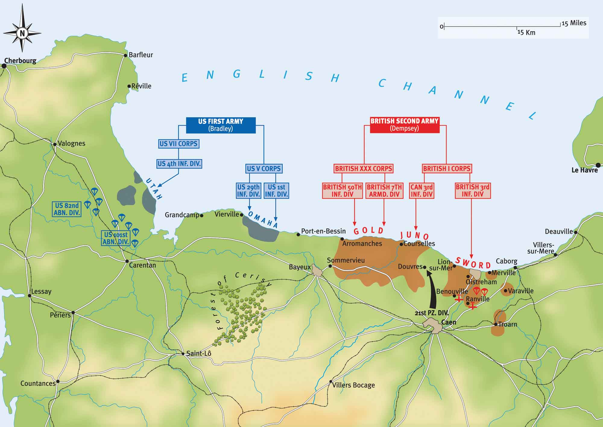 D Day Plan Of Operations On 6 June Military