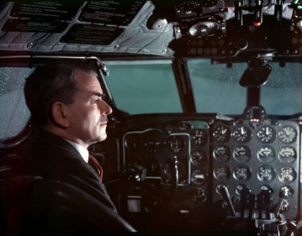 SIR FRANK WHITTLE British inventor of the jet engine 1907 to 1996 in the cockpit of a Comet jet aircraft
