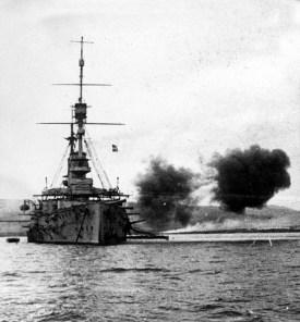 HMS-Cornwallis-at-Dardanelles