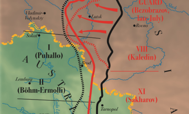 BATTLE MAPS: The Brusilov Offensive,1916 – Military History ... on battle of the frontiers map, battle of lorraine map, treaty of versailles map, battle of caporetto map, battle of passchendaele map, russian empire map, battle of belleau wood map, battle of vimy ridge map, battle of gallipoli map, battle of neuve chapelle map, franco-prussian war map, finnish civil war map, russian civil war map, eastern front map, gallipoli campaign map, battle of the somme map, second battle of the marne map, arab revolt map, battle of cer map,