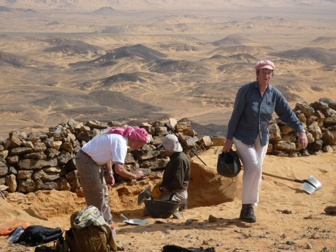Project archaeologists working in the Jordanian desert.