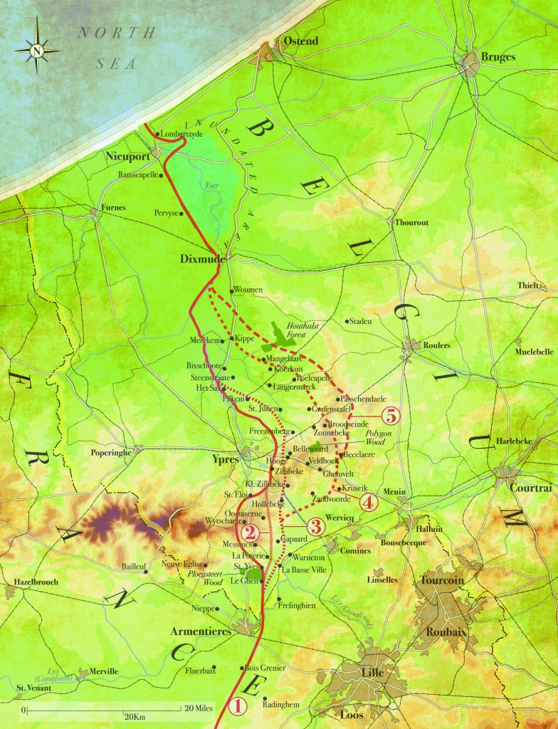 Battle of Passchendaele Map