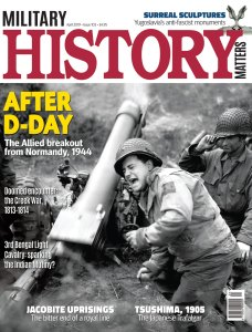 Front cover of the April 2019 issue of Military History Matters magazine .