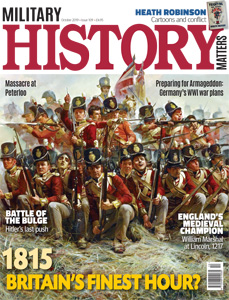 Front cover of the October 2019 issue of Military History Matters magazine.