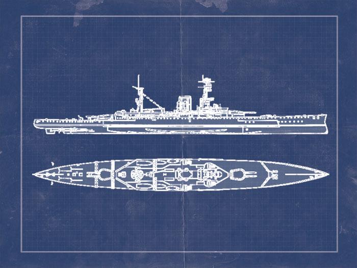 Blueprint of a ship