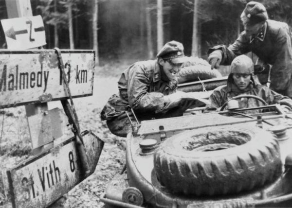 German SS Troops with a Panzer Division