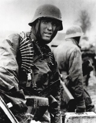 An SS Panzergrenadier photographed during the Ardennes Offensive.