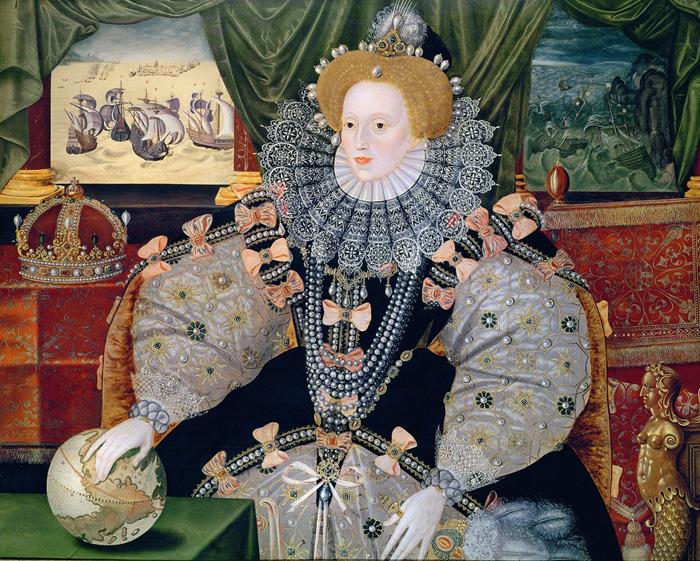 The Armada Portrait of Elizabeth I, commemorating England's defeat of the Spanish Armada in 1588.