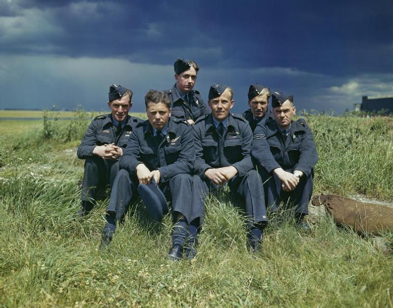 The crew of one of 617 Squadron's Lancasters at Scampton, Lincolnshire, 22 July 1943, months after their daring raids.