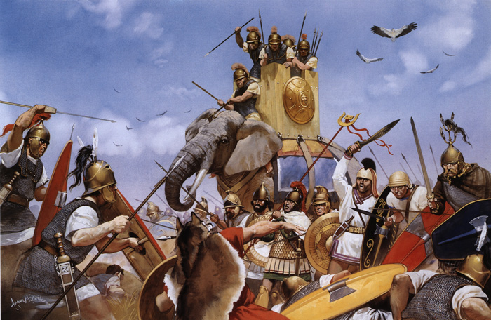 The Battle of the Trebia in 218 BC, which marked the beginning of the Second Punic War. Image: Angus McBride/WIPL