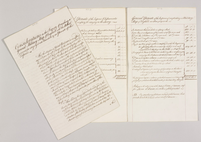 Memorandum from William Roy to George III, considered to be the founding document of the Ordnance Survey. Image: Royal Collection Trust.