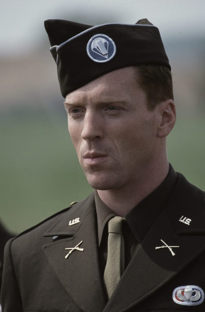 Damien Lewis as Captain Winters in television miniseries Band of Brothers (2001).
