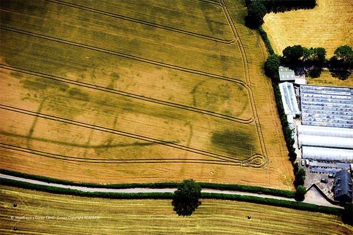 Carrow Hill fort is the first to be found in the Vale of Gwent. Crown Copyright.