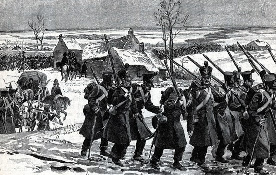The Grande Armée on the march in the autumn of 1805. It marched from the Channel coast to the Rhine in barely half the time its enemies anticipated.