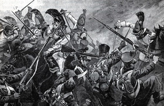 The charge of the Chevalier Cavalry of the Russian Imperial Guard during the second crisis of the battle. The struggle for the Pratzen Heights proved more ferocious than Napoleon anticipated.